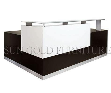 modern reception desk design modern new color sharp green glass shop counter design