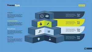 Four Angles Diagram Slide Template Stock Illustration