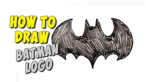How To Draw Batman Logo Easy For Kids / Drawing On A