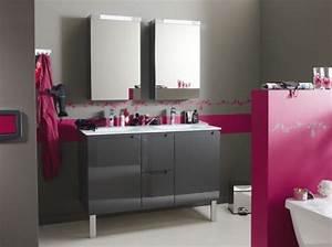 Deco Salle De Bain Gris : carrelage salle de bain gris et rose ~ Farleysfitness.com Idées de Décoration