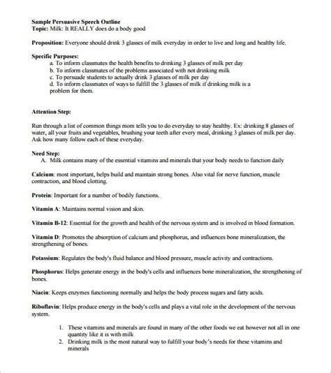 persuasive speech template 7 persuasive speech outline template doc pdf free premium templates