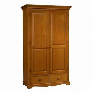 Porte De Penderie : armoire penderie pin miel 2 portes de style anglais maison et styles ~ Teatrodelosmanantiales.com Idées de Décoration