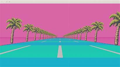 Aesthetic Vaporwave Gifs Notes Backgrounds Wallpapers Animated