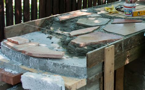 flagstone countertop how to build an outdoor kitchen howtospecialist how to build step by step diy plans