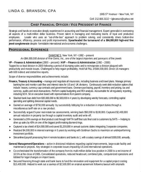 finance resumes 24 free word pdf documents