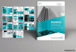 teal business proposal booklet layout buy  stock