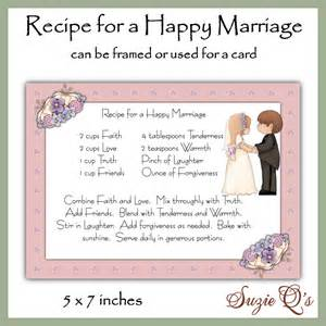e card hochzeitstag recipe for a happy marriage card front digital printable