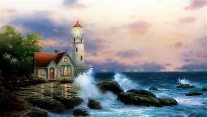 Lighthouse Wallpapers Desktop Beach Backgrounds Background Screensavers