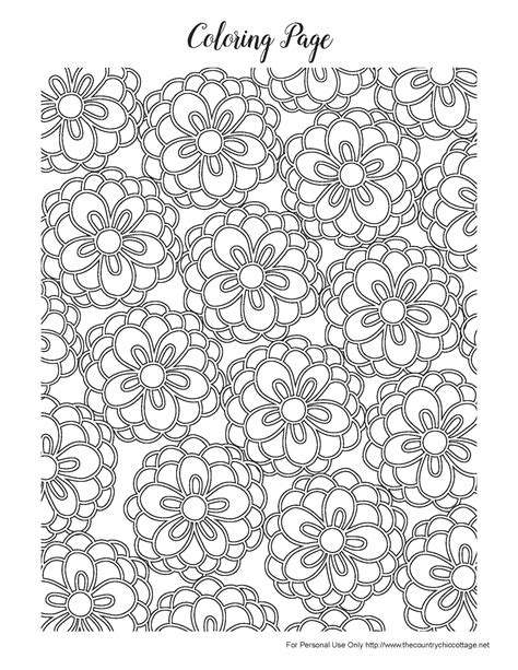Free Spring Coloring Pages for Adults The Country Chic