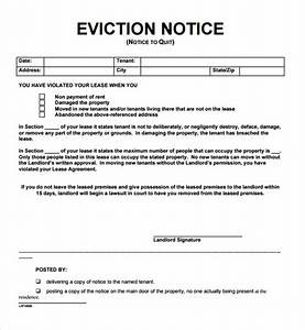 12 free eviction notice templates for download designyep With eviction letter template free