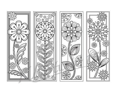 blooming coloring bookmarks page instant relax mandala designs to color for