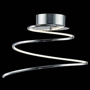 Plafonnier Design Led : plafonnier led futuriste boucle acier inoxydable looper ~ Melissatoandfro.com Idées de Décoration