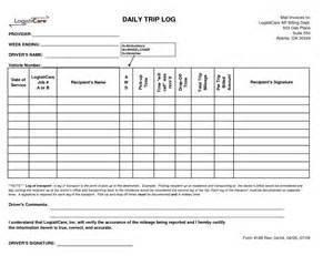driver log book templates