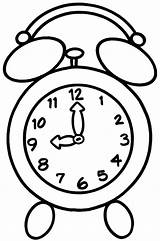 Clock Coloring Alarm Appointment sketch template