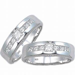 his and hers silver matching set 925 sterling silver With silver wedding rings for couples
