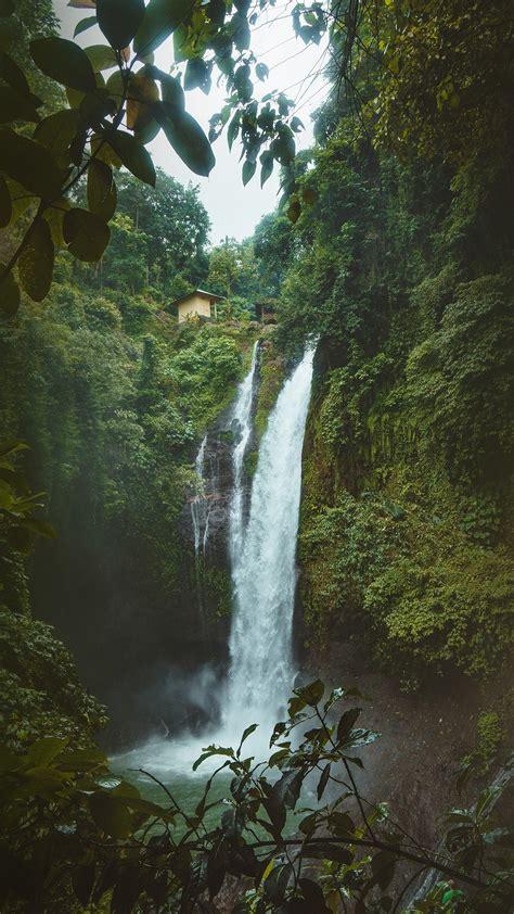 nx mountain waterfall summer amazon nature wallpaper