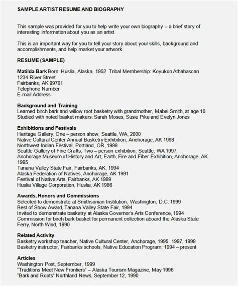 bioggraphy lay out cv resume template cover letter