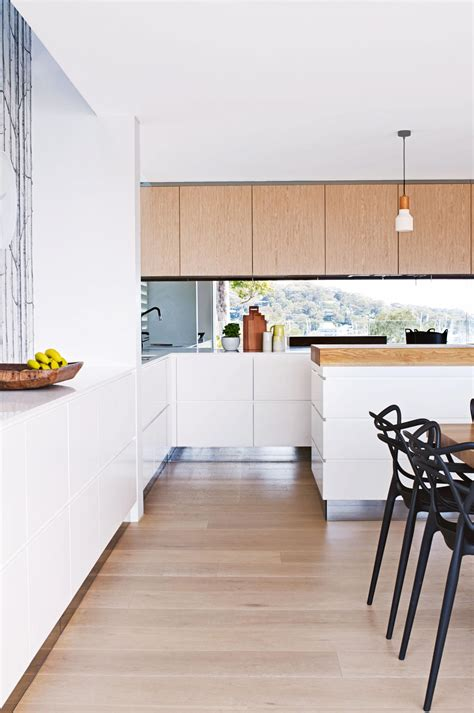 Timber Cupboards by White Kitchen Floorboards Timber Cupboards White Cabinetry
