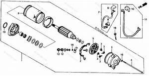 Honda Motorcycle 1987 Oem Parts Diagram For Starting Motor