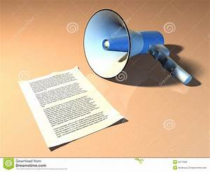 Megaphone And Announcement Stock Photo - Image: 5277920