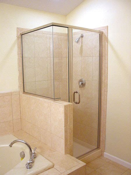 semi frameless shower enclosures  glass doors  bath