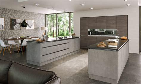 concrete kitchen design valore grey brown ontario walnut light concrete kitchen 2426