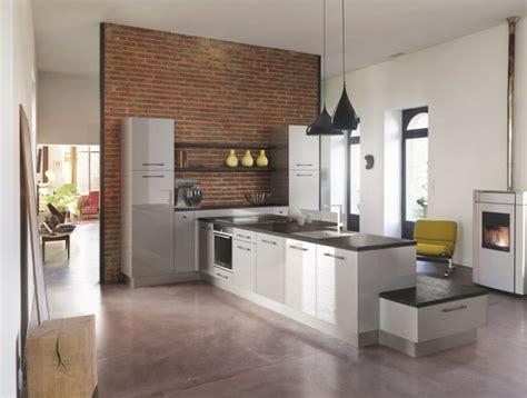 cuisine ouverte refermable cuisine tendance grise modèle expression