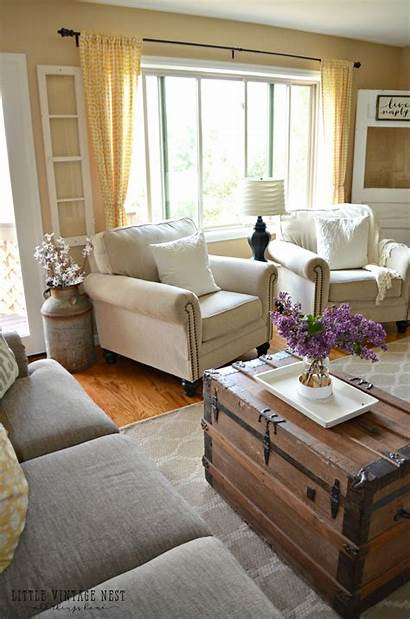 Farmhouse Living Decor Couch Transitioned Antiques