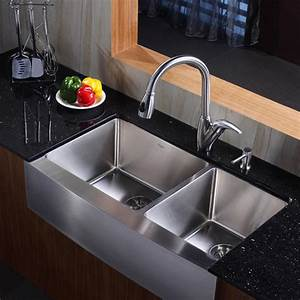 kraus khf203 36 kpf2120 sd20 36 inch farmhouse stainless With 36 inch farm sinks for kitchens