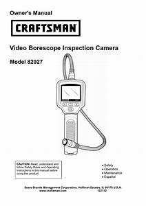 Video Borescope Inspection Camera Owner U0026 39 S Manual Model