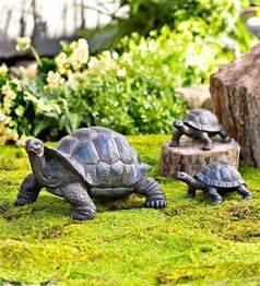 tortoise turtle family set of 3 garden porch outdoor lawn yard statue ornament ebay