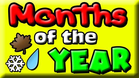 Months of the Year for Kids | 12 Months | Months Baby ...