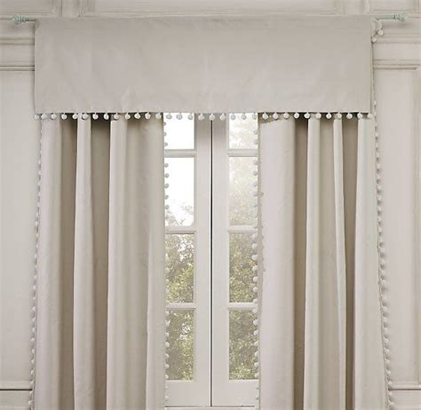pom pom trim curtains living