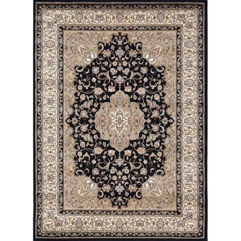 black and ivory area rugs home dynamix bazaar trim black ivory 8 ft x 10 ft indoor 7836