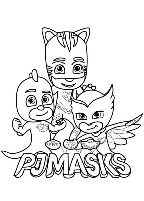disegni da colorare pigiamini gattoboy 30 disegni dei pj masks pigiamini da colorare