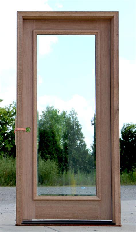 full lite exterior door  clear bevel glass