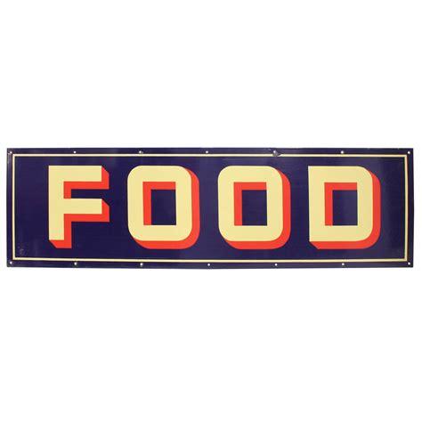 cuisine plaque 1950s enamel sign 39 food 39 at 1stdibs