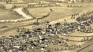 Oxford New York 1888 Panoramic Bird U0026 39 S Eye View Map 7194