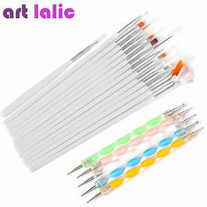 20 Pcs Nail Art Brushes Set - JONWIT
