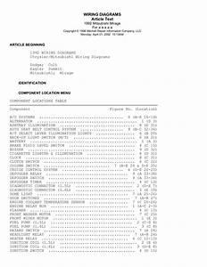 98 Mitsubishi Mirage Fuse Diagram