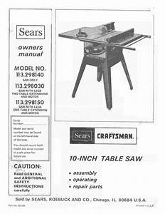 Table Saw Owner U0026 39 S Manual
