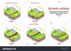 Seismic Activity Diagram  Isometric Earth Crust