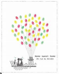 Pendaison De Crémaillère Invitation : affiche empreintes pour pendaison de cr maill re les mots sont des cadeaux marie ben ~ Melissatoandfro.com Idées de Décoration