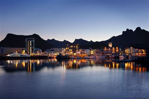 svolvaer night lofoten norway dave derbis