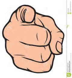 Finger Pointing at You Clip Art