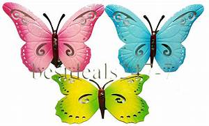 Metal butterfly wall decoration with hook art