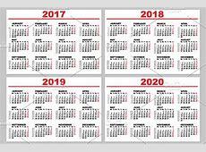 Set grid wall calendar for 20172020 ~ Illustrations