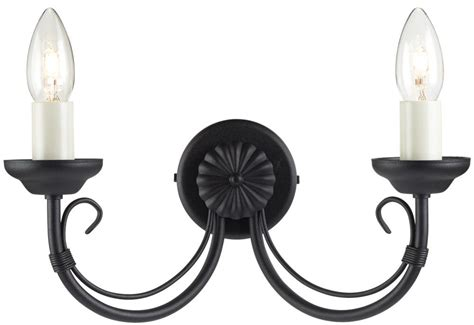 chartwell traditional black 2 l wrought iron wall light