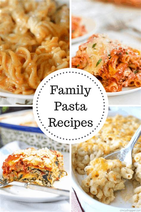 family pasta recipes  imm  domestically speaking