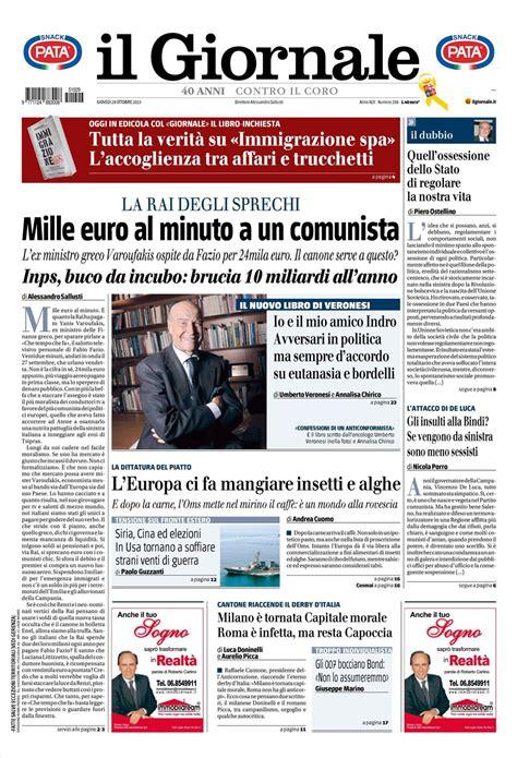 le prime pagine dei quotidiani che sono  edicola oggi